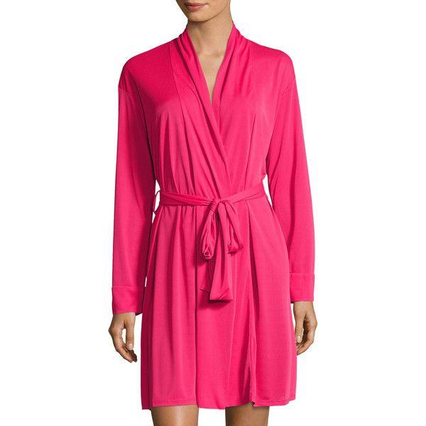 bc6217aee9 Natori Women s Aphrodite Short Wrap Robe - Pink