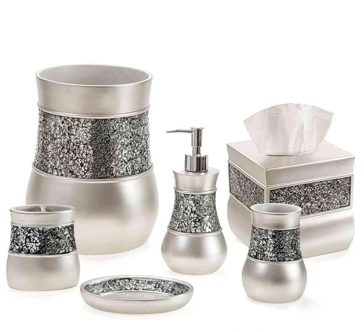 New Post Brushed Nickel Bathroom Set  Livingrooms  Pinterest Interesting Brushed Nickel Bathroom Accessories Decorating Design