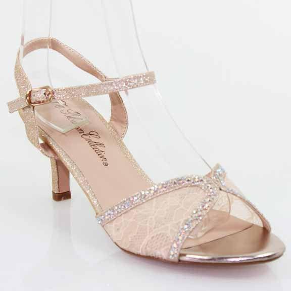 Perfect Nude Lace Kitten Heel Bridal Shoes, (http://www.fashionaras.