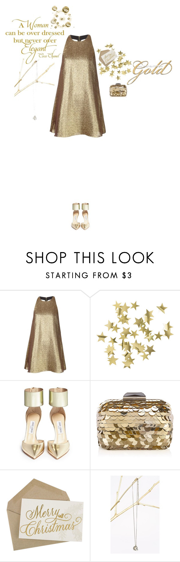 """SM7 Nº16 Open Back"" by belldraw ❤ liked on Polyvore featuring Alice + Olivia, H&M, Jimmy Choo, Chanel, stylemission and SM7"