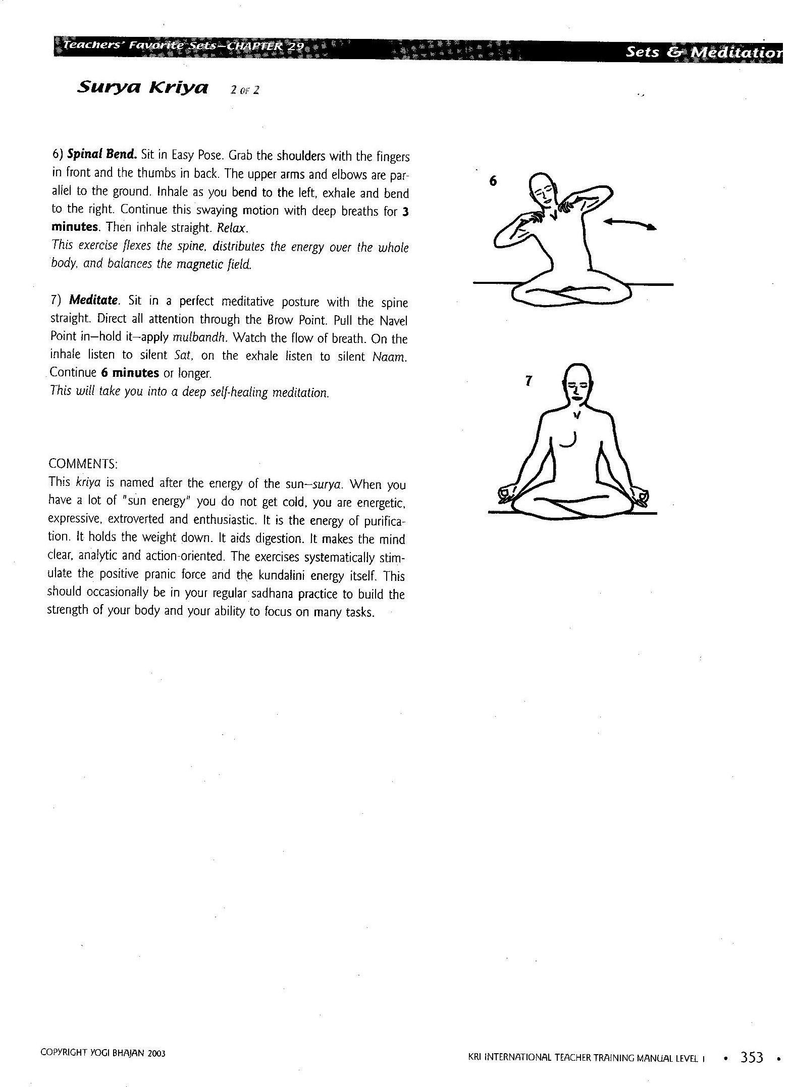 Surya Kriya Page 2 Kriya Kriya Yoga Kriya Yoga Meditation