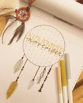 Novembers Cover Page Bullet Journal Monthly Dream Catcher Art  bullet journal