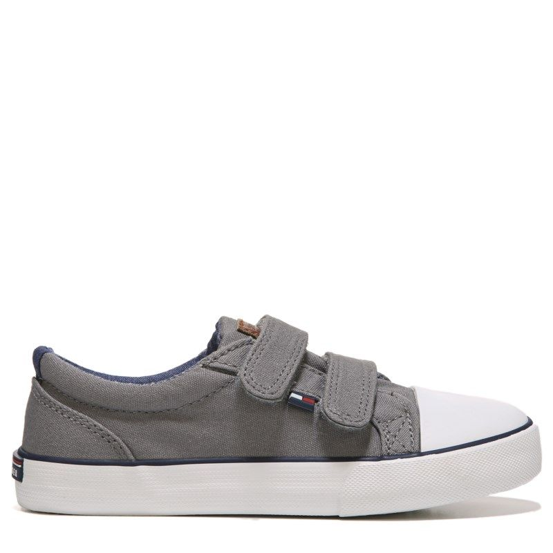 Kids Tommy Hilfiger Cormac Velcro HL Sneaker ToddlerPreschool Gray Canvas
