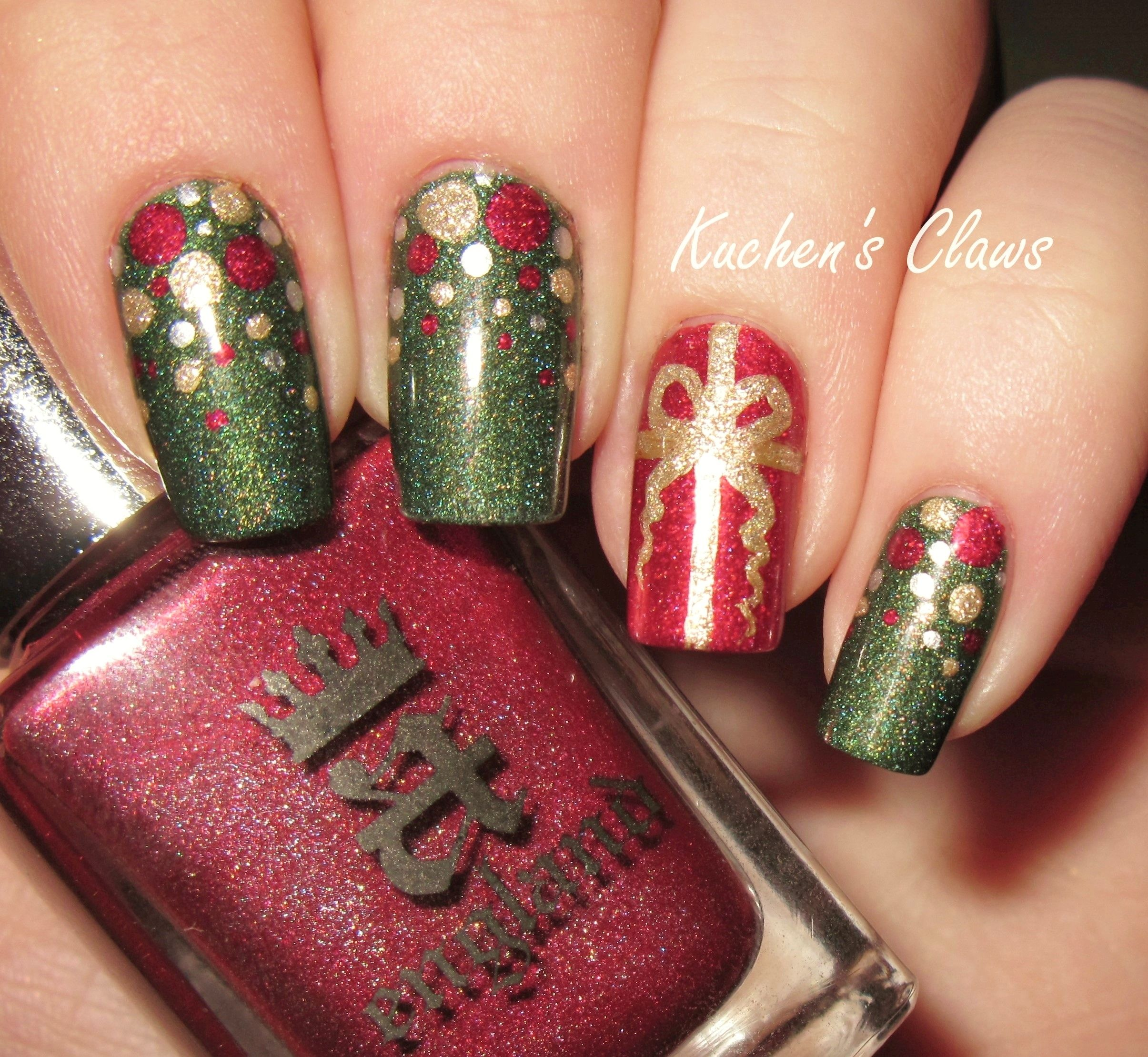 christmas ornament nail art - photo #17