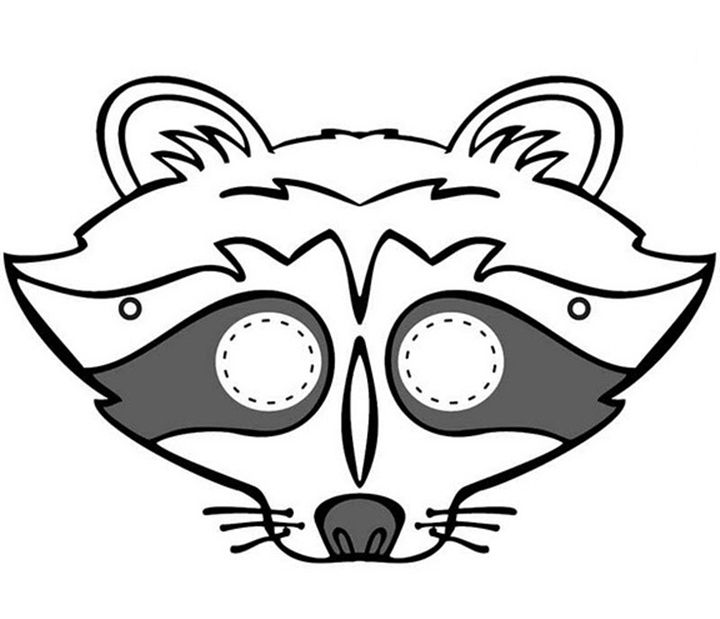 raccoon mask - Halloween Mask Preschool Crafts Pinterest - face masks templates