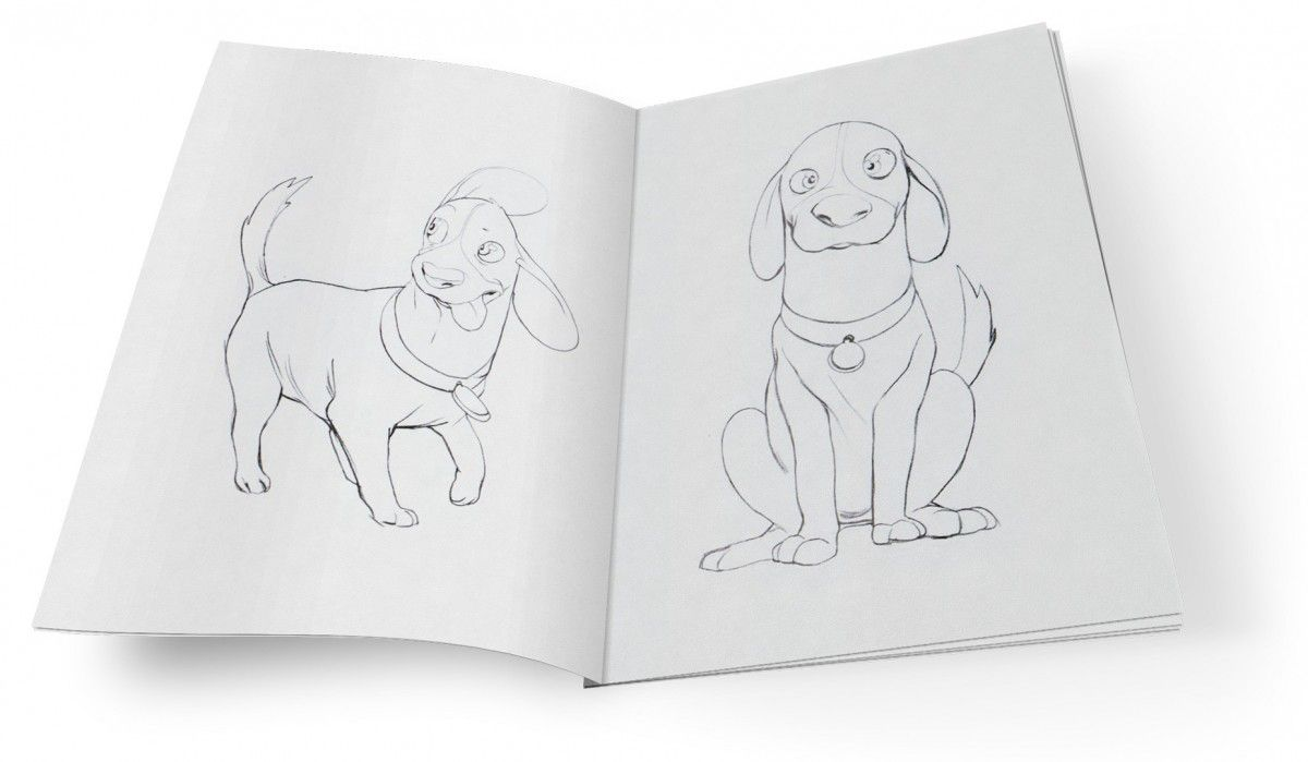 coloring book mockup featuring max