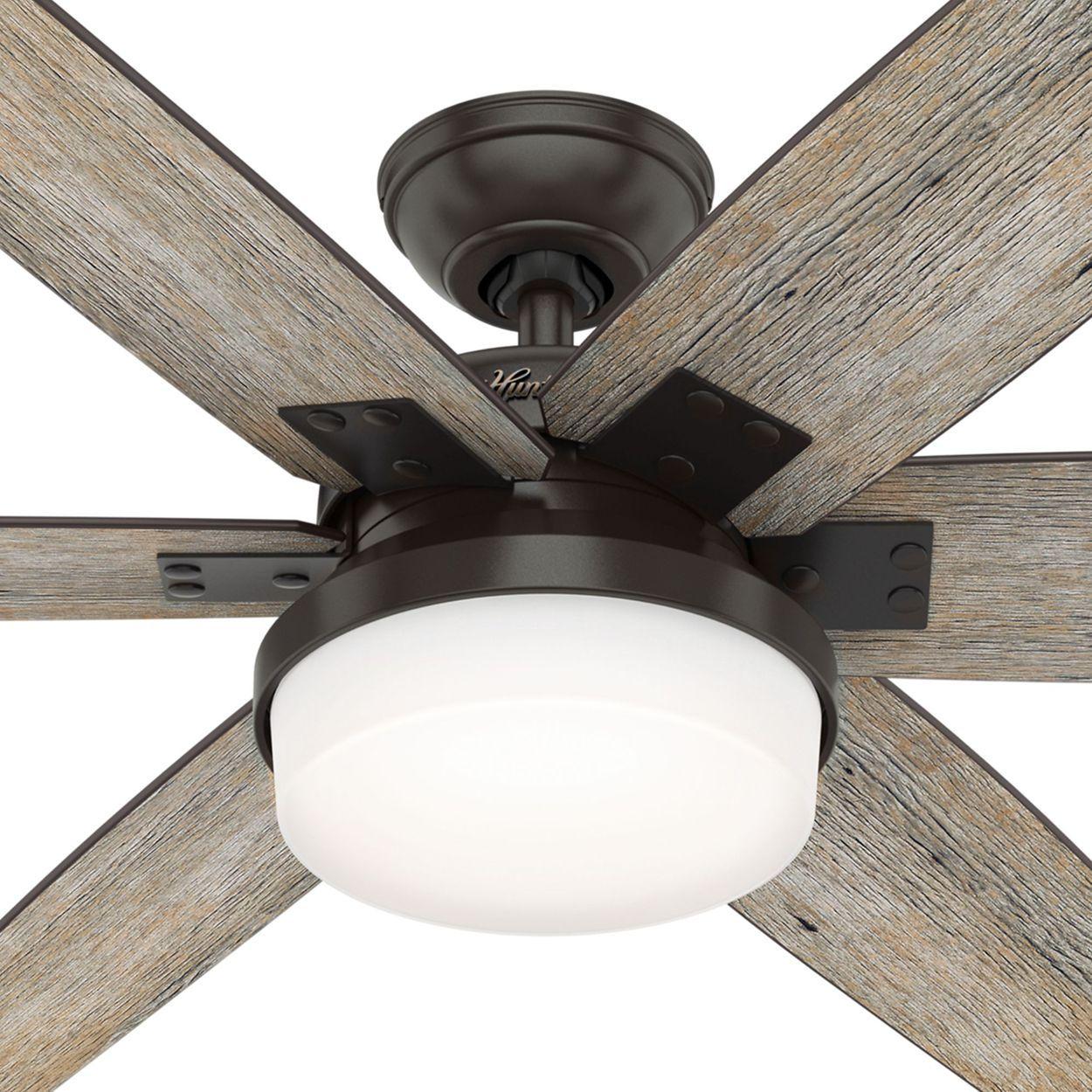 Hunter Kaplan Led 64 Ceiling Fan Ceiling Fan Living Room Ceiling Fan Ceiling Fan In Kitchen