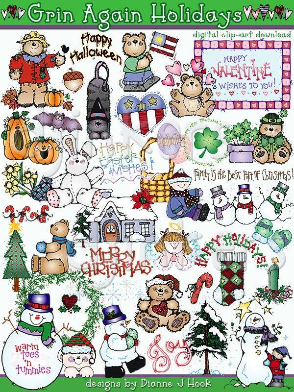 Grin Again Holidays Clip Art Holiday Clipart Clip Art Downloadable Art
