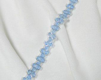 CLEARANCE  Swarovski Beaded Bracelet Beaded Swarovski