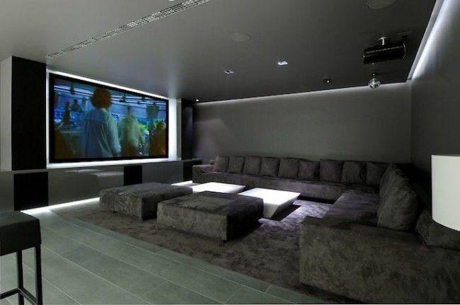 16 id es pour am nager et d corer votre home cinema deco maison salle de cin ma maison et salle. Black Bedroom Furniture Sets. Home Design Ideas