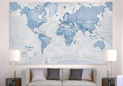 Maps international home design pinterest wall maps wall huge canvas art world map neutral maps international gumiabroncs Images