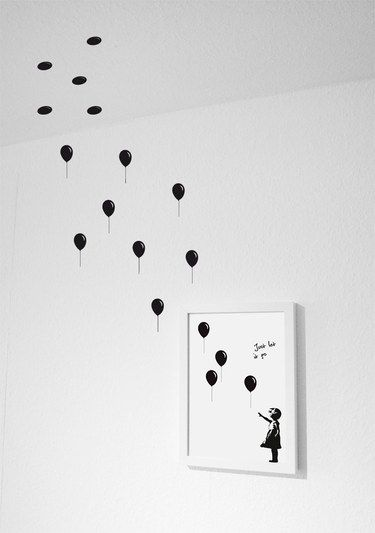 ber das bild hinaus kreative wanddekoration w nde. Black Bedroom Furniture Sets. Home Design Ideas