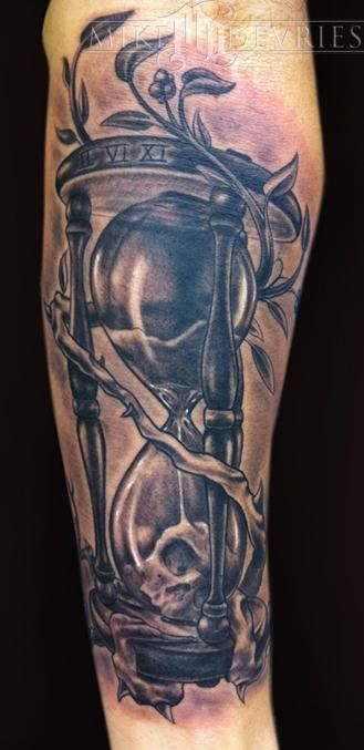 Mike Devries Hourglass Tattoo Black And Grey Tattoos Hourglass