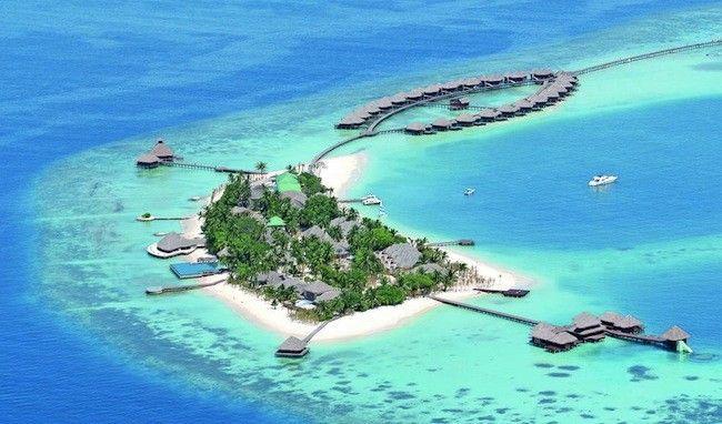 Resort Huvafen Fushi, Maldivas.