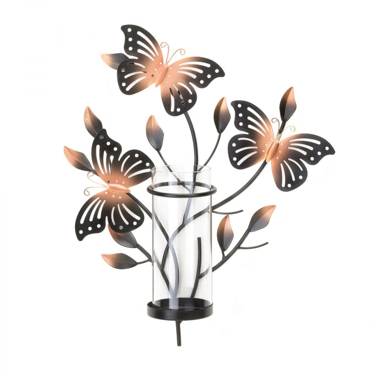 Fluttering butterfly wall candleholder candle and oil warmer