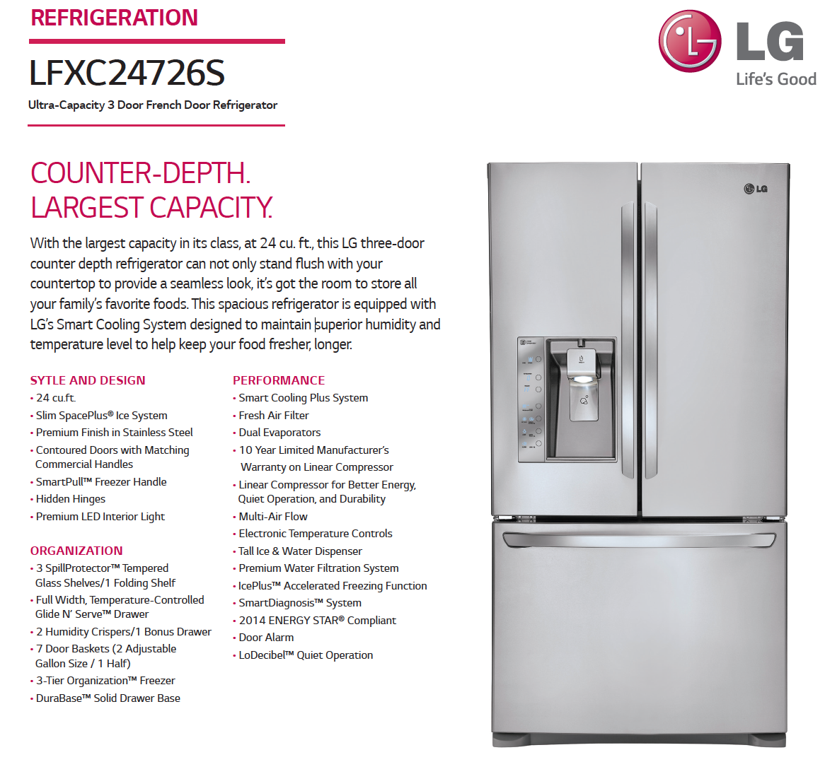 This Is Our Pick Lg 24 Counter Depth Refrigerator Love It