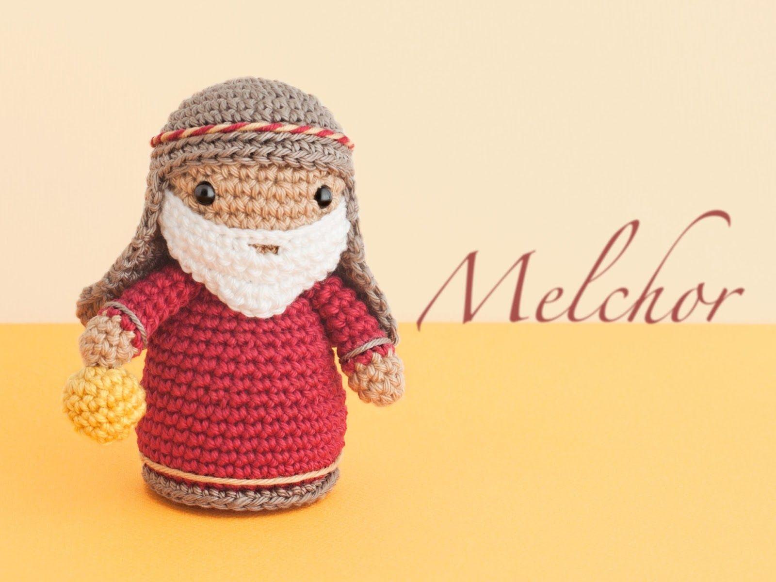Amigurumi Navidad Nacimiento : Amigurumi magi melchior free crochet pattern tutorial
