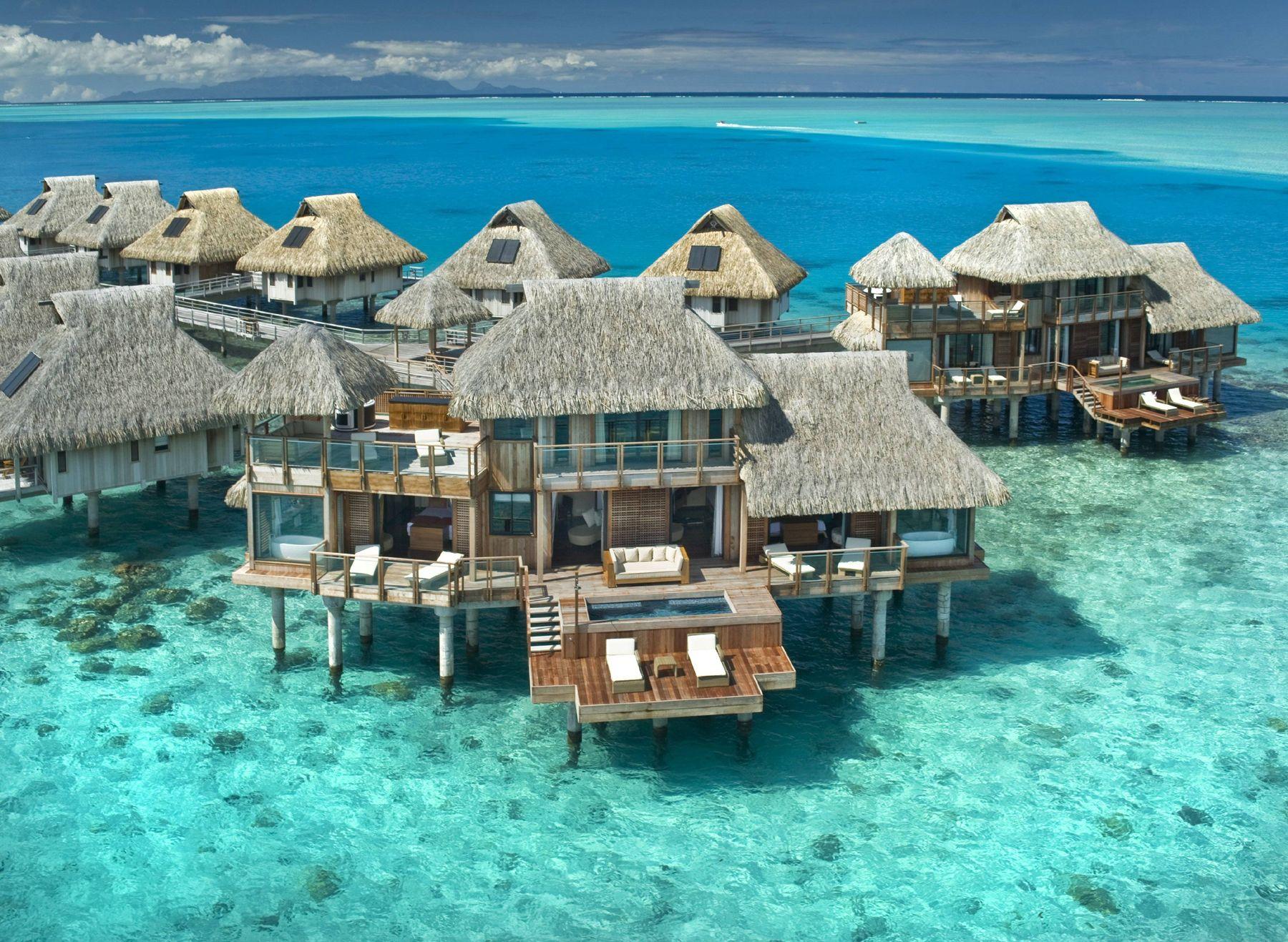 Bora Bora Island Tahiti French Polynesia Tourist Attractions Island Borabora Tahiti Frenchpolynesia Overwater Bungalows Dream Vacations Places To Go
