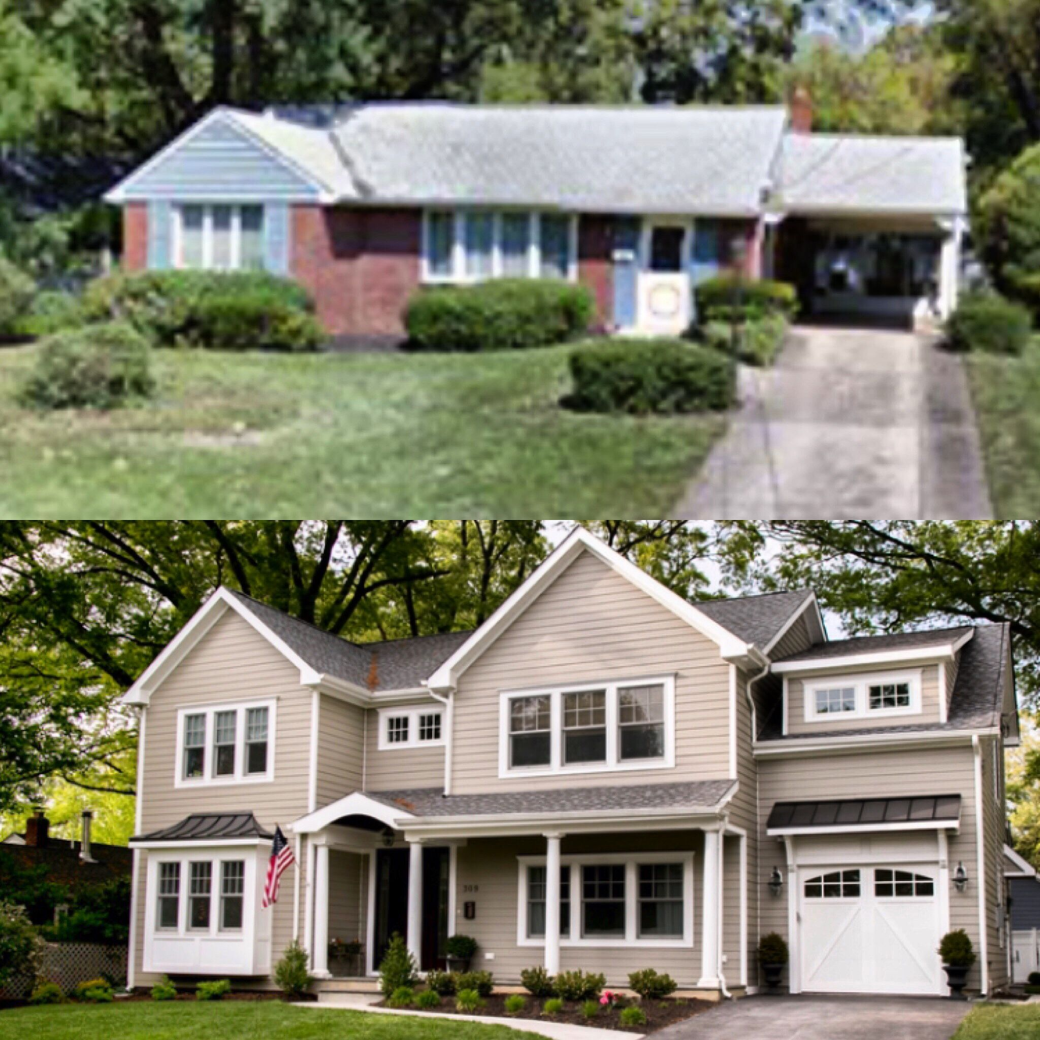 Home Addition Plans: Before And After: Second Floor Addition In 2019