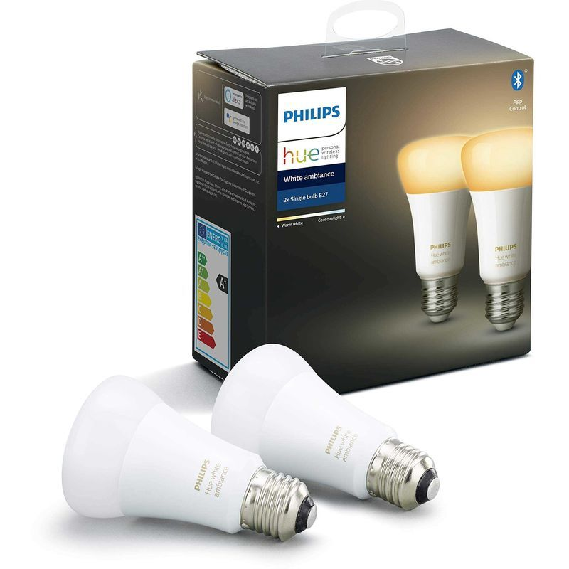 Jeu De 2 Ampoules Led E27 Philips Lighting Hue White Ambiance