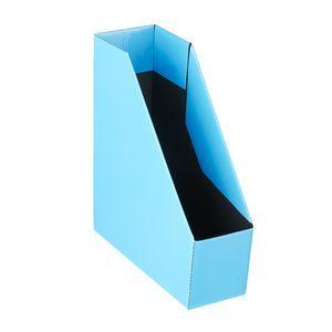 Cardboard Magazine Holders Collapsible Cardboard Magazine File Blue  Home Office  Pinterest