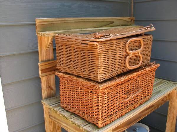 wicker picnic baskets - vintage | Vintage picnic basket ...