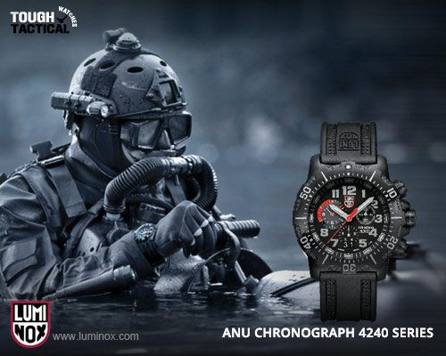 f70e43e83 LUMINOX ANU CHRONOGRAPH 4240 SERIES DIVE WATCH. If it's good enough for the Navy  SEALS, it's good enough for fellow divers.