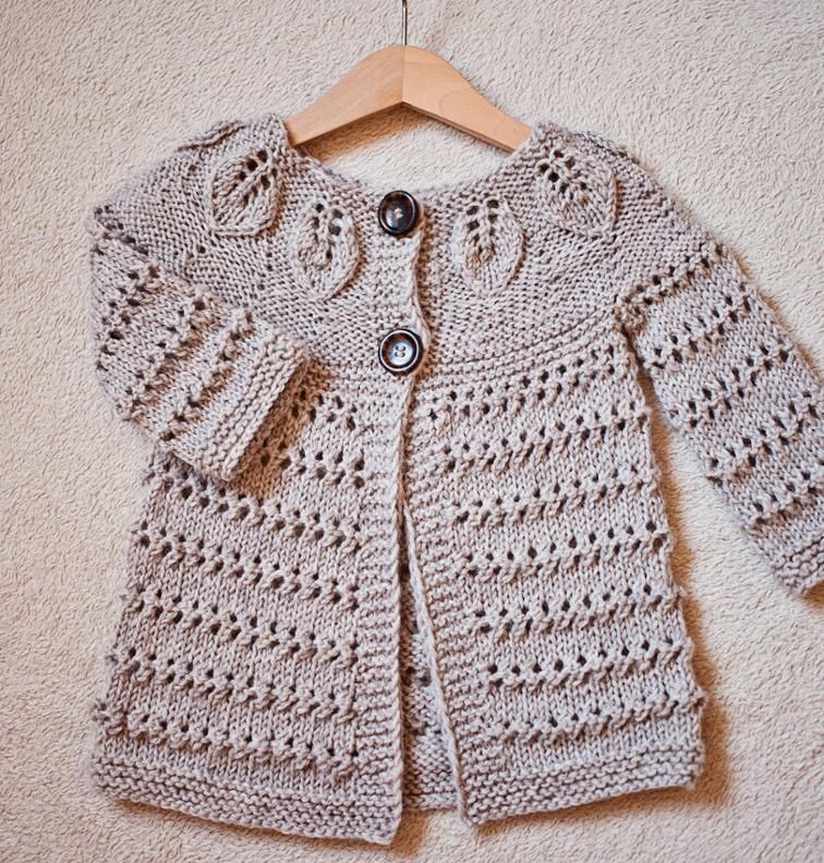 Knit pattern by Mon Petit Violon - Leaves Cardigan!