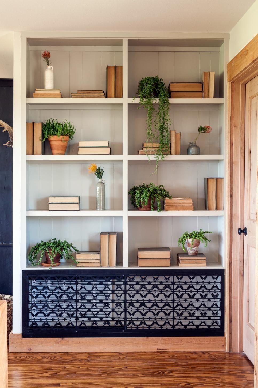 Farmhouse Bookshelf Decor Bookcases
