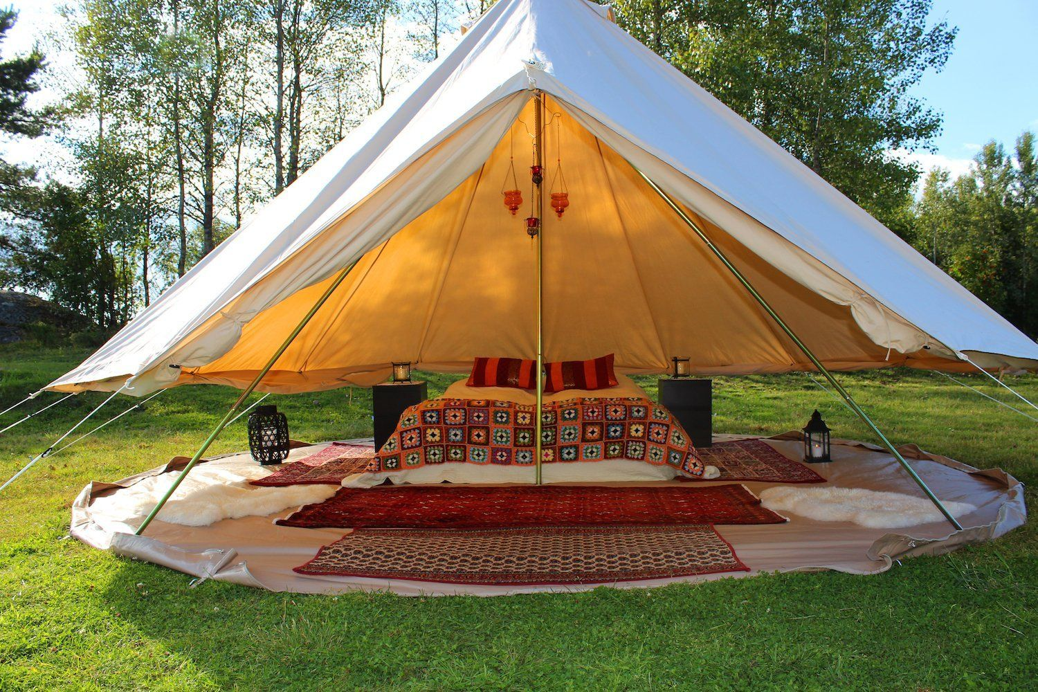 Amazon.com: Camping Canvas Bell Tent Sibley Tent Luxury ...