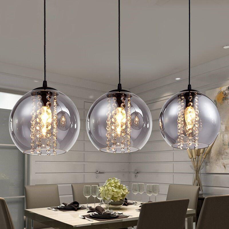 Nordic Glass Ball Pendant Lighting Clear Bubble Chandelier Creative Pop Lamp