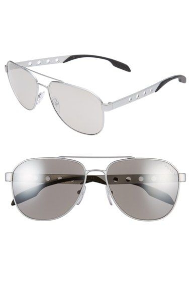 74d1093444 Prada+ Machine +60mm+Aviator+Sunglasses+available+at+ Nordstrom ...