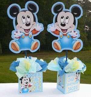 Fiestas Infantiles Decoracion Mickey Mouse Bebe Centros De Mesa