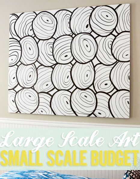 DIY Large Scale Art on a Small Budget