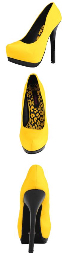Dulce Pump Yellow