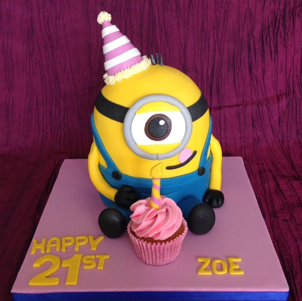 Minion 21st birthday cake httpwwwkellyloucom Birthday and