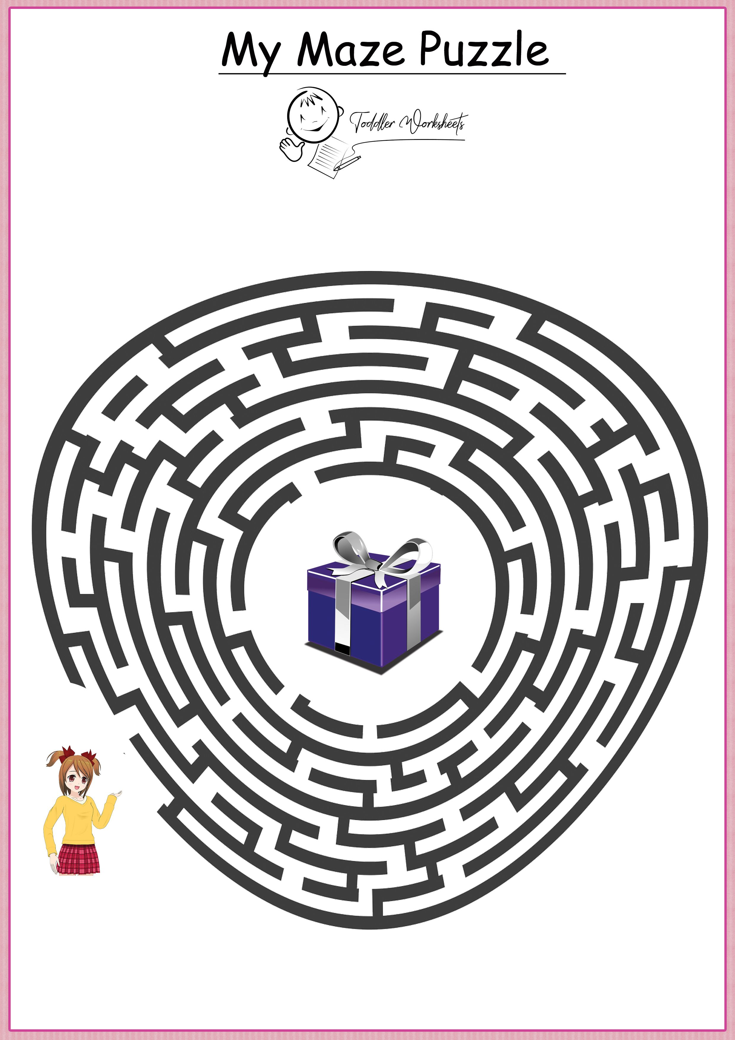 Free Preschool Mazes Worksheets