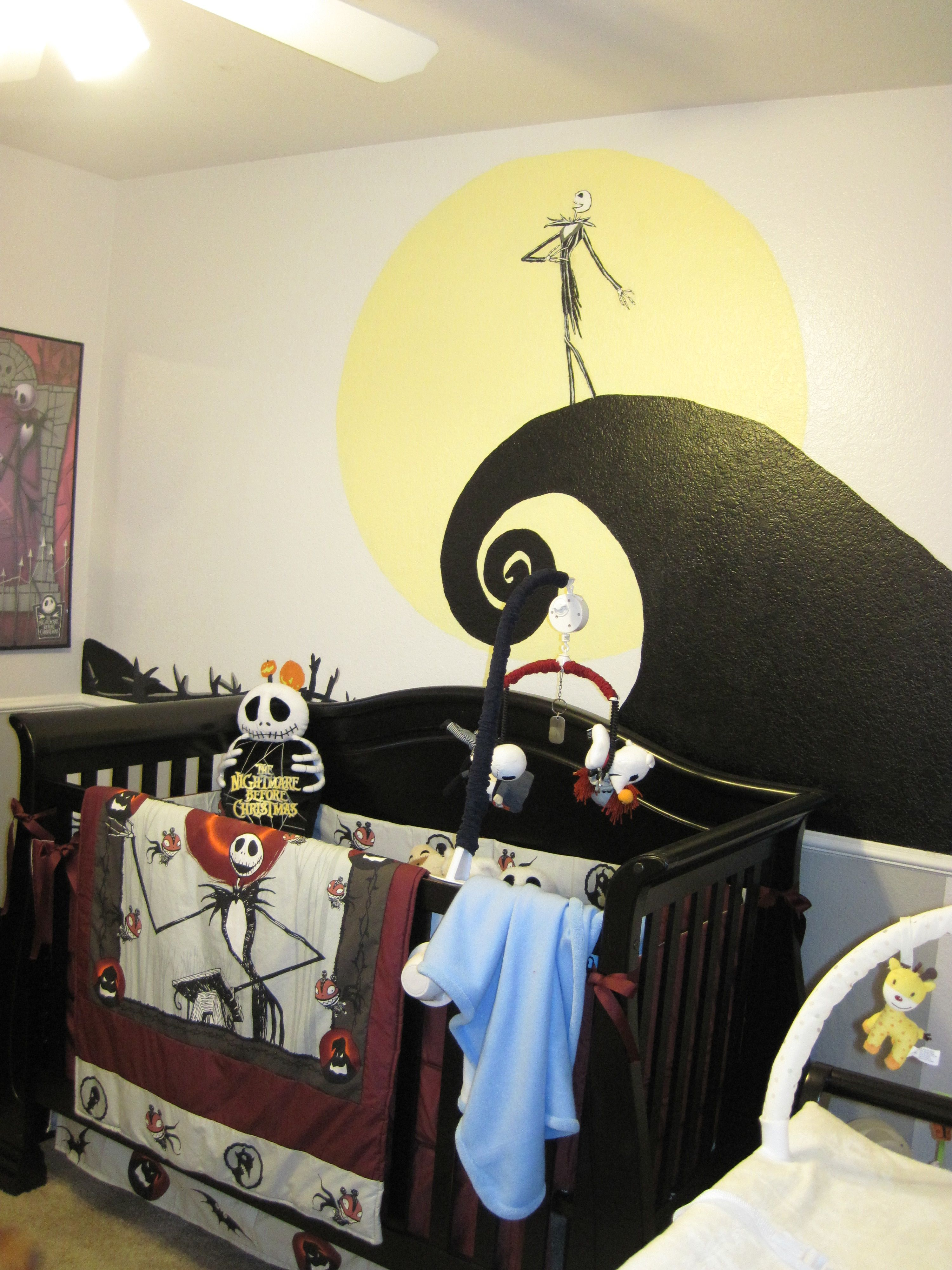 nightmare before christmas nursery omg i wanted to do this with my daughter but her dad refused because he isnt a fan as much as i am but definitely might