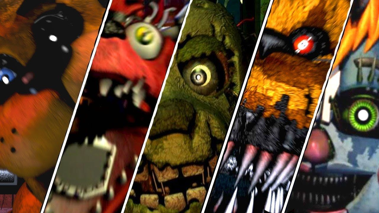 Five Nights At Freddy S 1 2 3 4 5 6 Sister Location All Trailers