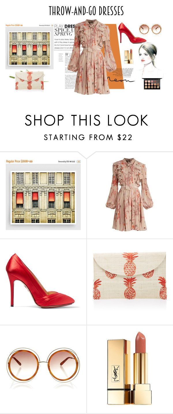 """""""Easy Peasy: Throw-and-Go Dresses"""" by meltc ❤ liked on Polyvore featuring Giambattista Valli, Charlotte Olympia, Kayu, Chloé, Yves Saint Laurent and MAC Cosmetics"""