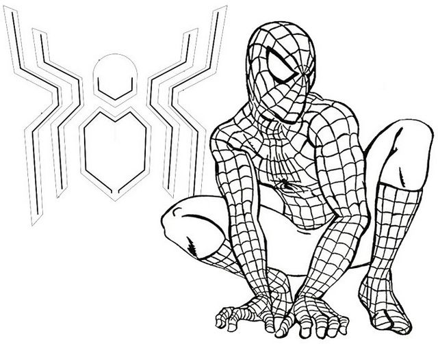 Spider Man Far From Home Coloring Page For Fans Coloring Pages Spiderman Marvel Coloring