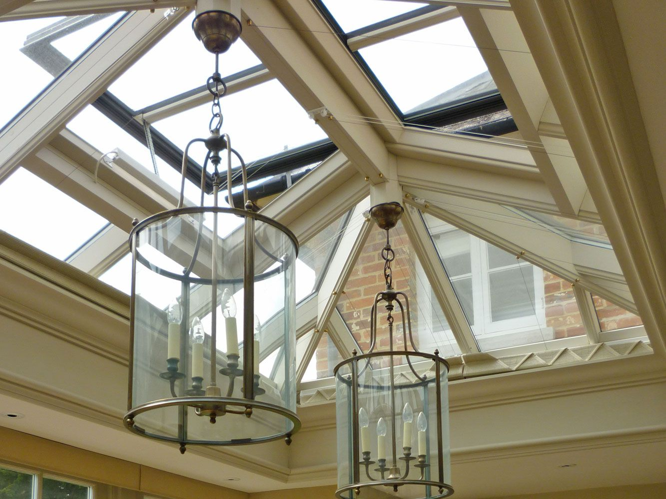 Example Of Downlighters Placed Around Internal Soffit Of Roof Lantern Lantern Roof Light Lantern Ceiling Lights Roof Lantern