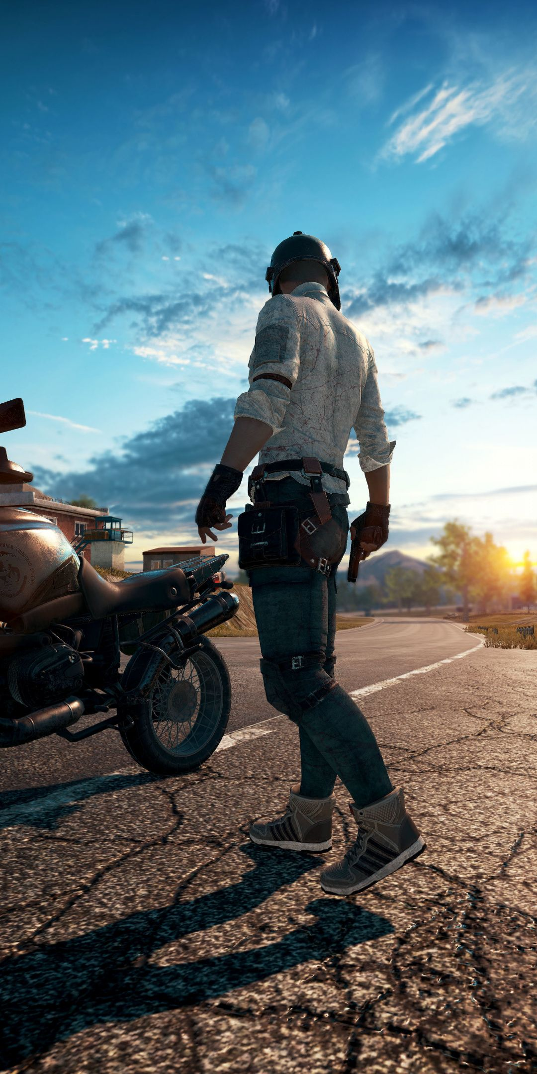 Playerunknown S Battlegrounds Online Game Biker 1080x2160 Wallpaper Gaming Wallpapers Game Wallpaper Iphone Mobile Wallpaper