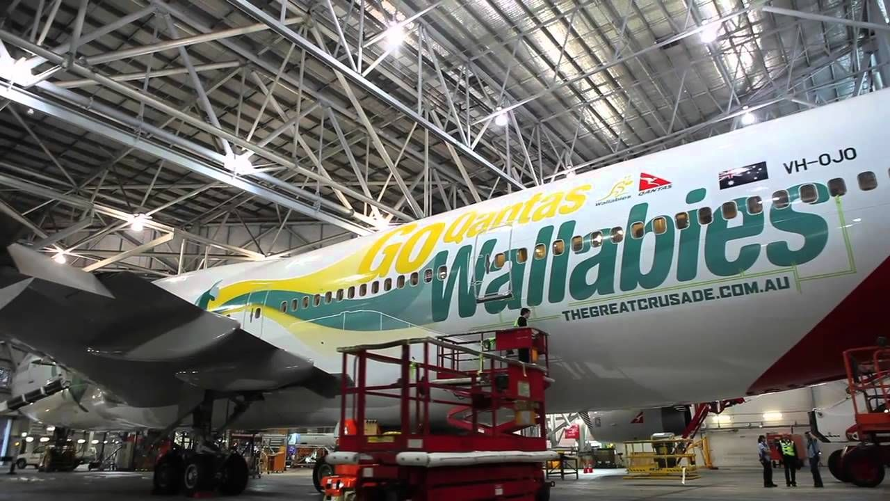 Qantas Wallabies Livery On 747 Air New Zealand Wallaby Australian Airlines