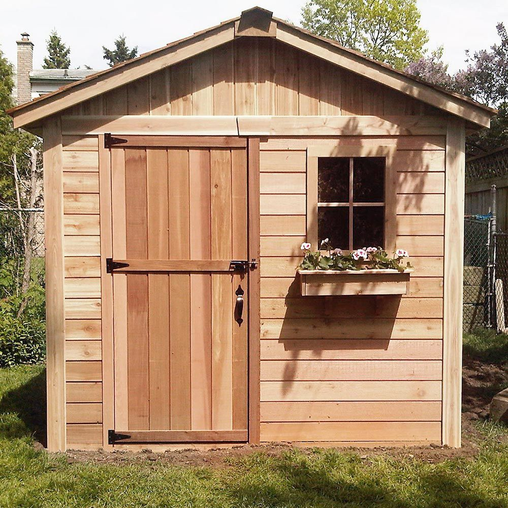 Outdoor Living Today Storage Shed Lifestyle Series Backyard