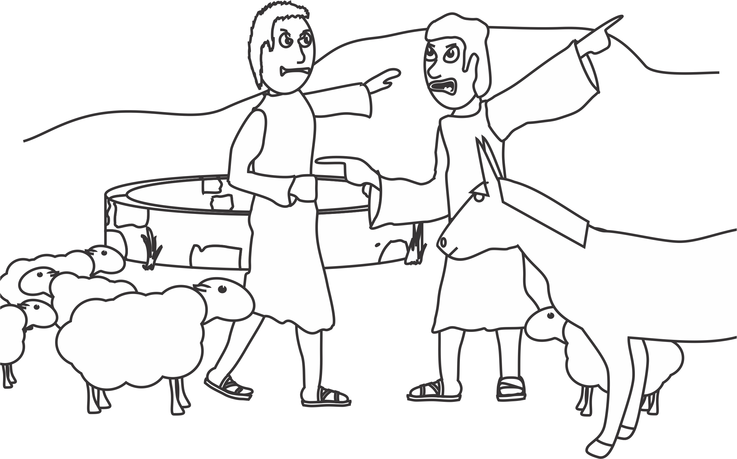 Abraham And Lot Coloring Page