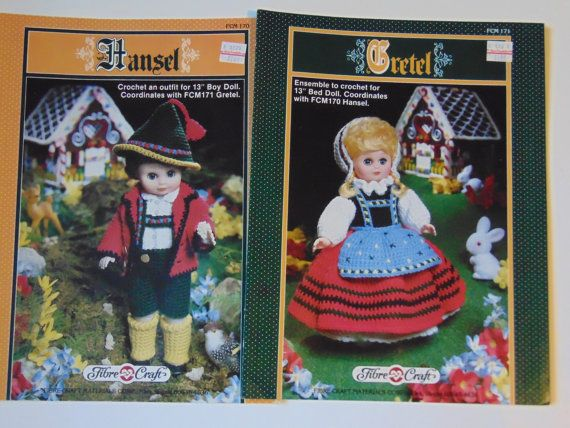 2 Booklets Hansel and Gretel Crochet Dolls by TrinasCraftPatterns