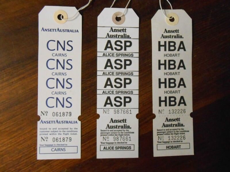 Ansett australia baggage tags baggage tags labels