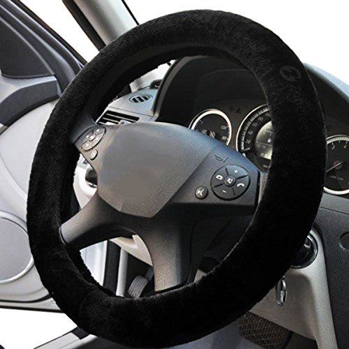 5f0fa04b5c44870cc5ca69acf676512a zone tech plush stretch on vehicle steering wheel cover classic  at mifinder.co