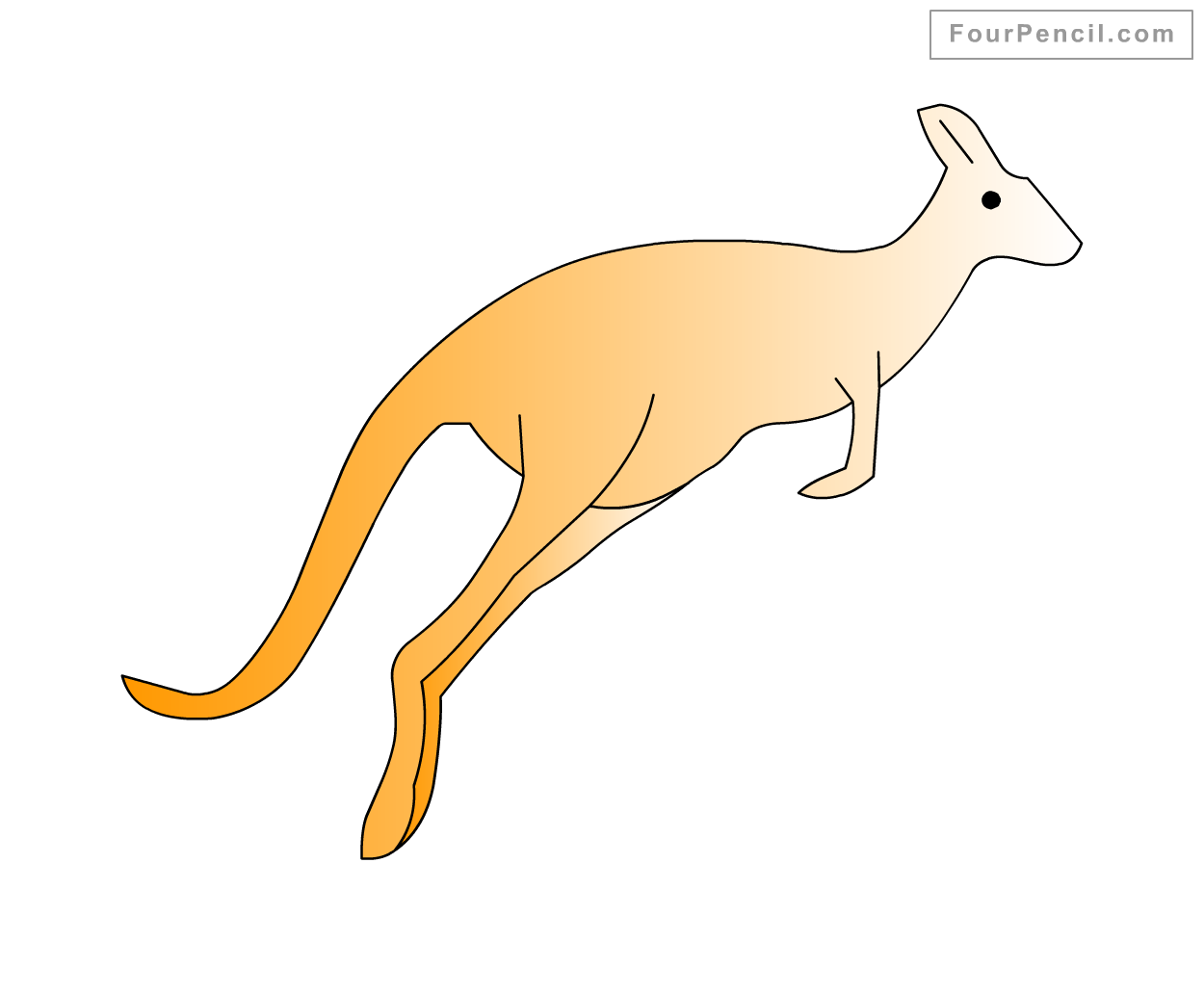 How To Draw Kangaroo For Kids Step By Drawing Tutorial
